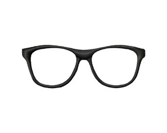 Applique' Embroidery Design, Nerdy horn-rimmed eyeglasses, #206