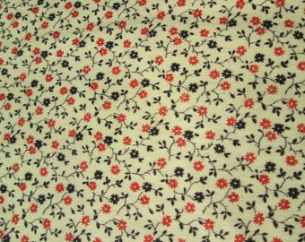 Vintage Quilt Fabric ELY & WALKER Quadriga Cloth Calico Print 1 Yard