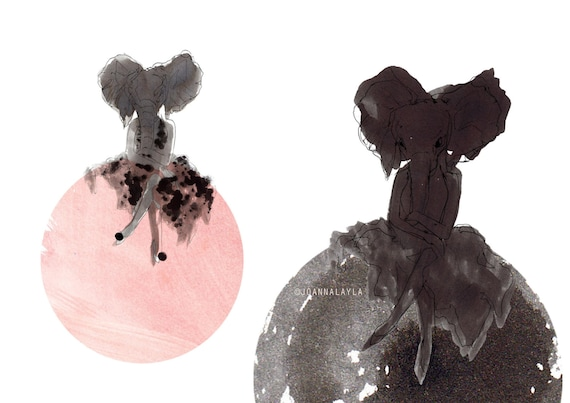 Polka Dot Ganesh by Joanna Layla 2014. Limited edition illustration print of 25 on beautiful etching paper. Artist signed.