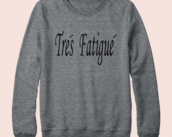 Tres Fatigue - Sweatshirt, Crew Neck, Graphic