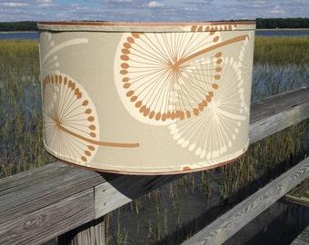 Drum Lamp Shade Lampshade Dandelion Sage Alexander Henry Fabric