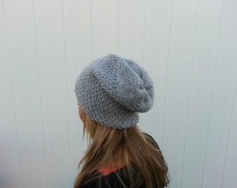 Free Shipping Women's Gray Beanie Hat