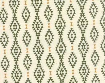 Nomad Aztec in Bone Cactus Cotton Fabric
