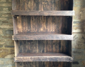Reclaimed Pallet Wood Shelving Unit