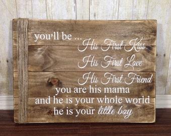 Baby Boy Nursery - Rustic Wood - Nursery - Little Boy Sign