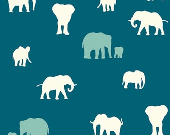 Serengeti - The Herd Teal - Jay-Cyn Designs - Birch Fabrics (SG-10-Teal)