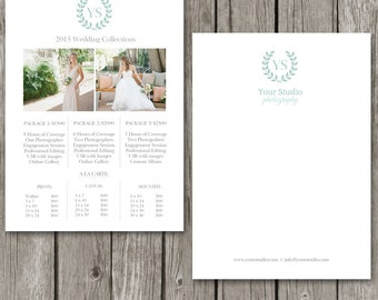 Price Guide Template - Photography Price List - Pricing Guide - Wedding Collections - Price Sheet for Photographers - PG08