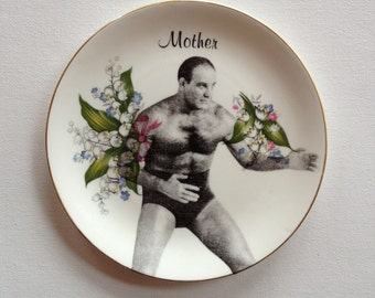 mama's boy 2 - altered vintage plate