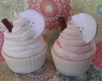 Apple Cinnamon Artisan Cold Process Soap Cupcakes