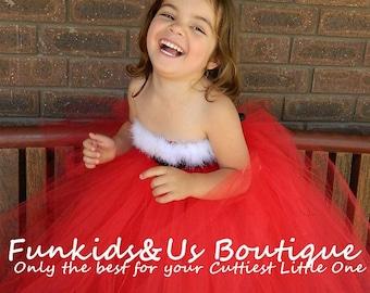 Miss Santa Claus tutu dress, Christmas tutu dress, Santa Claus tutu dress, Holiday tutu