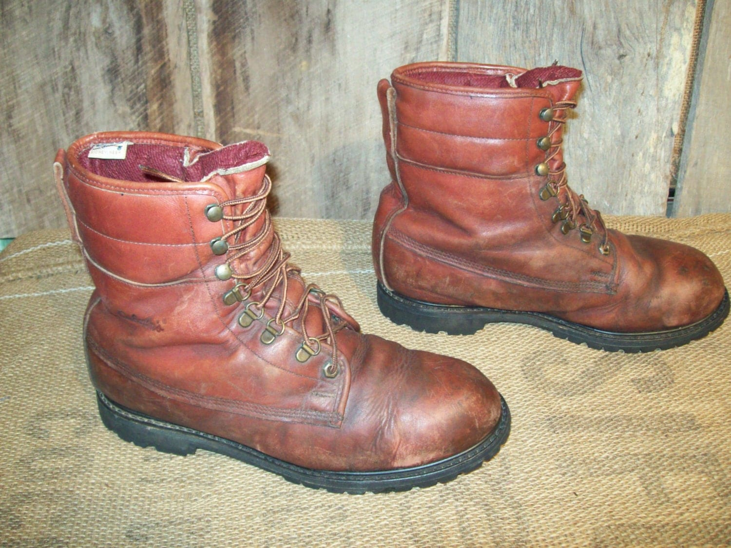 vintage mens cabelas insulated boots mens size by
