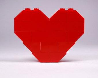 LEGO® heart brooch - jewelry