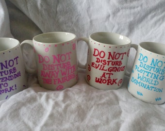 Do Not Disturb mugs