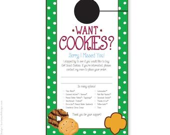 Downloadable Girl Scout Cookie Sales Door Hanger