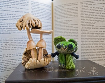 Frankenstein's Bunny – The Monster Collection - Little Hand-Knitted Collectible Amigurumi Keepsake, Gift, Toy