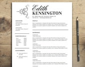 Resume Template - The Kensington Resume - Professional Resume Design - Customizable Resume Template for Word Pages