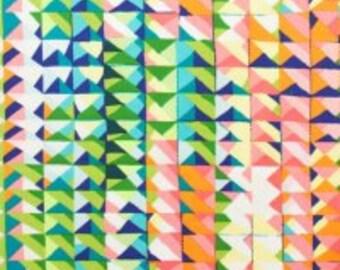 Folklorico by Alexander Henry 7919 B Casa Azul, (bright, geometric, triangles, rainbow)