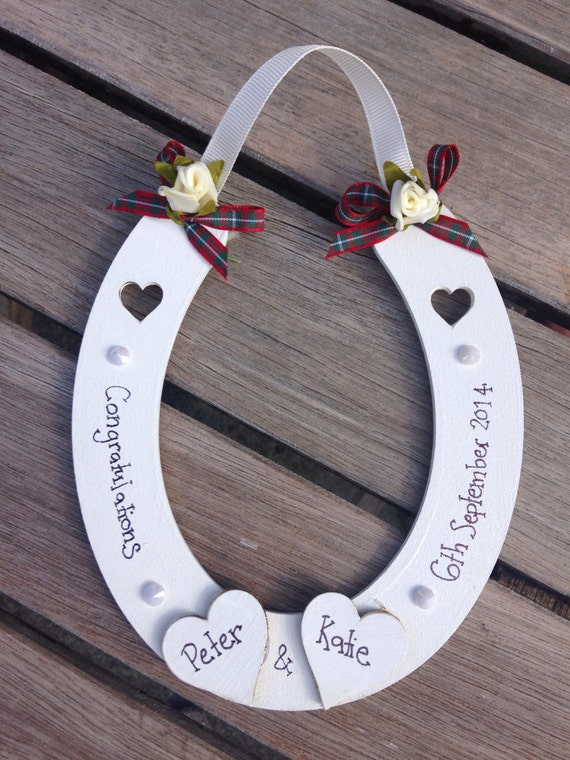 Scottish Wedding Gift For Bride : ... lucky wedding horseshoe Scottish wedding gift hanging decoration