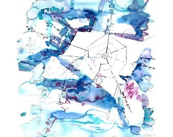 Ice Web - watercolor study - Giclee reproduction