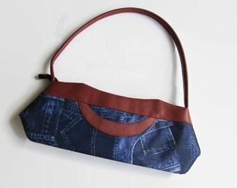 Vintage handbag, jeans handbag, blue handbag, jeans bag, for her, women, blue bag, jeans blue bag, vintage bag, vintage, women bag, women