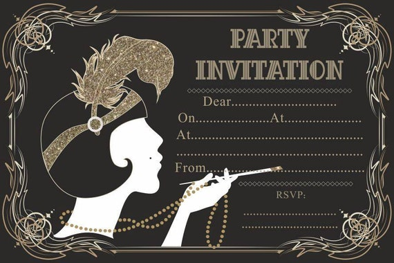 Gangster Themed Party Invitations  Graphics and Templates