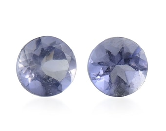Catalina Iolite Loose Gemstone Round Cut Set of 2 1A Quality 4mm TGW 0.35 cts.