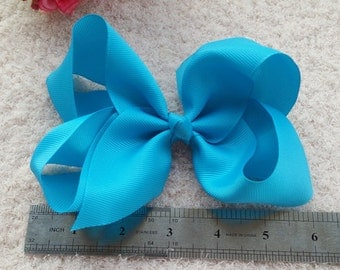 set of 10pcs 6 inch bows, hair bows for girls, baby girls hair bows, large hair bow, baby bow, teens hair bow,classic hair bows Q