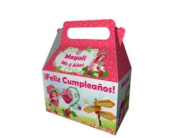 Printable Box Birthday Strawberry Shortcake