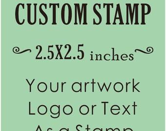 Custom Stamp, Custom Logo Stamp, Wedding Stamp, Business Card Stamp,custom return address stamp, Craft 2.5x2.5inches