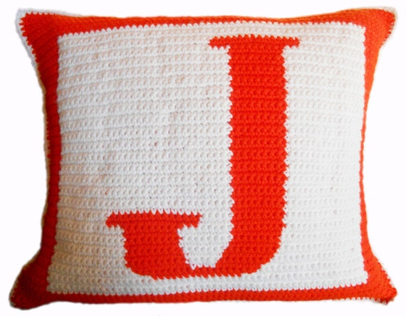 Free Crochet Letter Pillow Pattern : Crochet Pattern Letter J Crochet Pillow