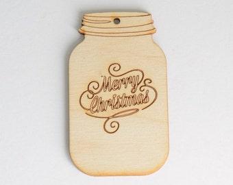 Mason/Ball Jar Christmas Ornament Set of 2