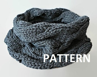Knit Infinity Scarf Pattern Eternity Scarf Knitting Pattern Knitting Circle Scarves Pattern