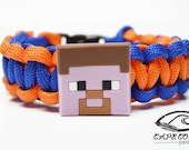 Mine Craft Bracelet, Steve Bracelet, Mine Craft Jewelry, Steve Jewelry, Custom Mine Craft Bracelet, Mine Craft Paracord Bracelet