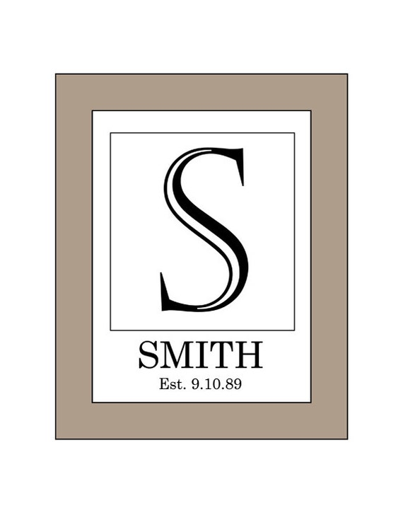 Monogram Print Special Order Letter With Personal Name