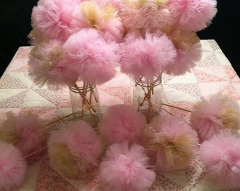 Pink and Gold Party Wands, Pink and Gold Centerpieces, Pink and Gold Party Favors