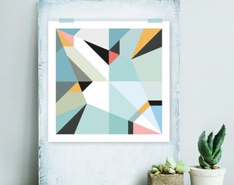 Origami Unfolded print Nessie | printable wall art | digital pdf file | instant download