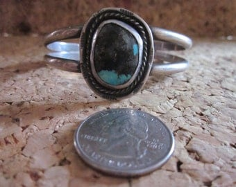 Native American Turquoise and Silver Bracelet