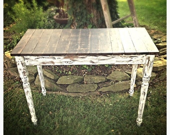 Handmade shabby chic sofa table