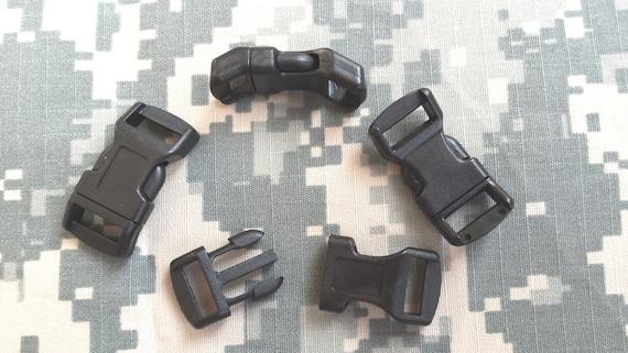 "1/2"" Plastic Curved Contoured Paracord buckles 1-200 pcs"