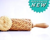 WINDMILL  - Embossing rolling pin, laser engraved rolling pin.