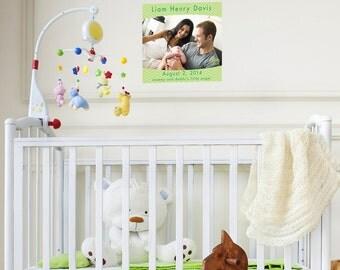Custom Baby Personalized Print Photo canvas
