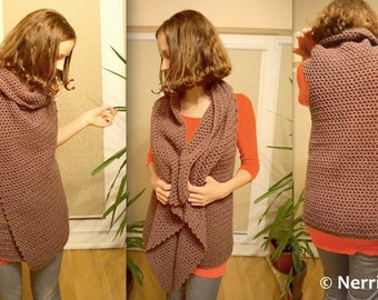 Cardigan vest NERRI crochet pattern / instructions / how to / tutorial