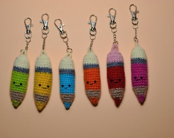 Keychain pencil, Amigurumi pencil,Stuffed pencil, Crochet pencil