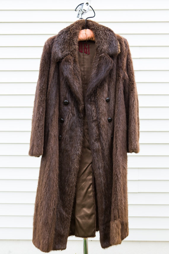 Mens Brown Long Coat