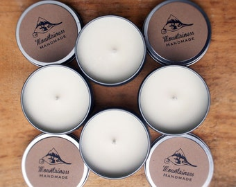 scented soy candles / 4 pack soy candles / christmas candles / soy candle gift / soy candle gift set / holiday / natural travel candle tin