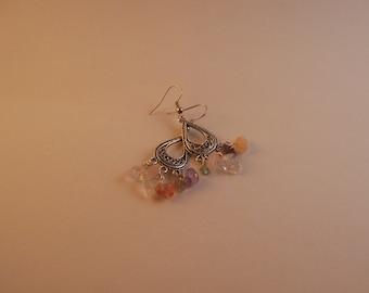 Quartz Stone Chandelier Earrings