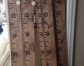 Ruler growth chart for children decal six feet DIY