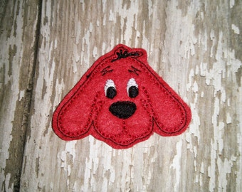 Set of 4 Clifford the Big Red Dog Hairbow Feltie Felt Embellishment Bow! Birthday Party