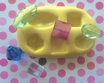 Gemstones Silicone MOLD - Craft Supply, Fondant Molds, Cake Decor, Cupcake Toppers, Gemstones Mold, Cake Supply, Jewelry Mold, Craft Mold