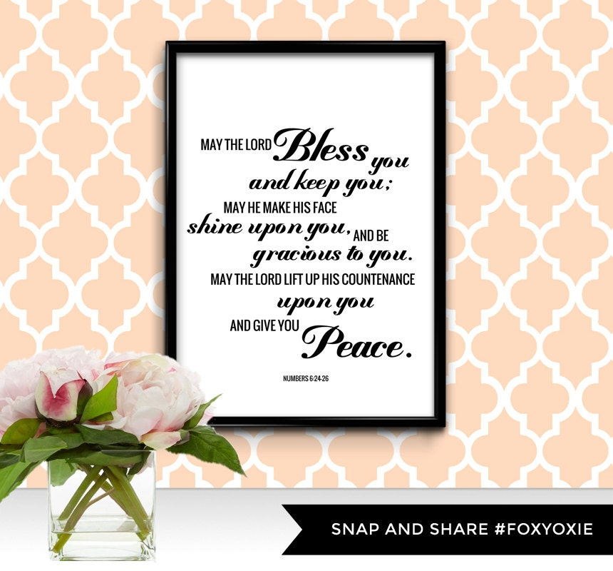 May The Lord Bless You And Keep You Bible Verse Typography